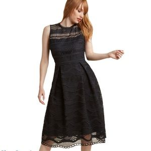 ModCloth Liza Luxe Black Lace Fit & Flare Dress